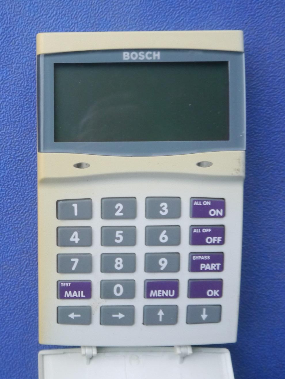 bosch 16 plus keypad