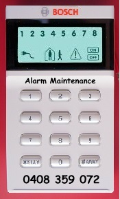 alarm maintenance melbourne bosch codepad