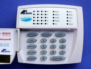 servicing alarm keypad repairs crow powerwve 16