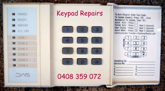 das dl replacement keypad repairs