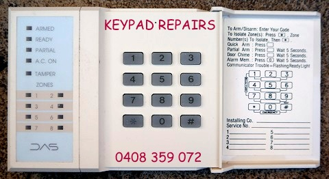 das dl 250 key pad repairs services