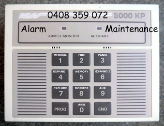 alarm repairs ness 5000 keypad