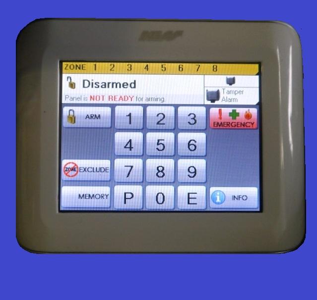ness touchpad keypad