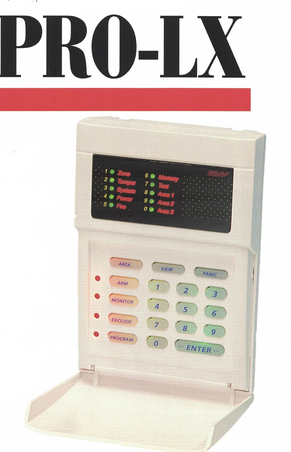 alarm repairs ness prolx keypad