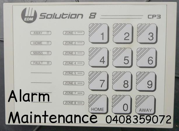 EDM Solution 8 CP3 alarm keypad